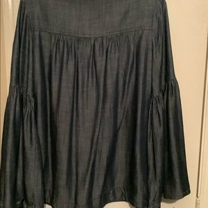 Jean top with bell sleeves